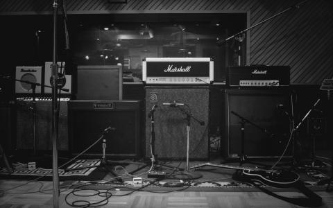 工作室,音乐,设备,扬声器,麦克风,录音,照片,chb,壁纸