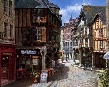商店,绘画,欧洲,唱山姆公园,城市,家庭,街道