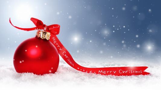 新年,假期,丝带,圣诞装饰品,球,红色,圣诞节,新年,圣诞节,背景,雪,雪花,雪,壁纸,宽屏,全屏,宽屏,高清壁纸,背景,壁纸