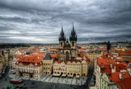 捷克共和国,布拉格,城市,人民