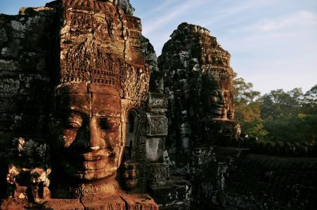 城市,废墟,避难所,寺庙,柬埔寨