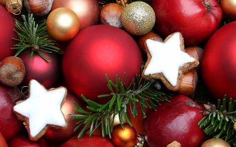 饼干,坚果,新年,玩具,圣诞节