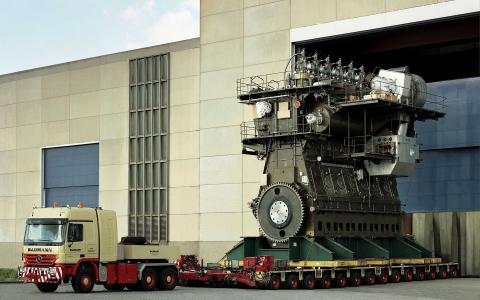 引擎,柴油,大,卡车,电力,船舶