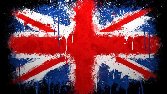 英国国旗,油漆,英国,国旗