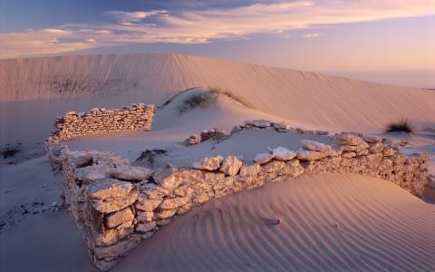 石工,沙漠,白色的沙滩