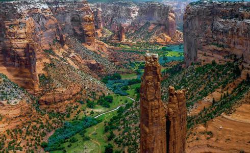 自然,峡谷,美国,储备,河,岩石