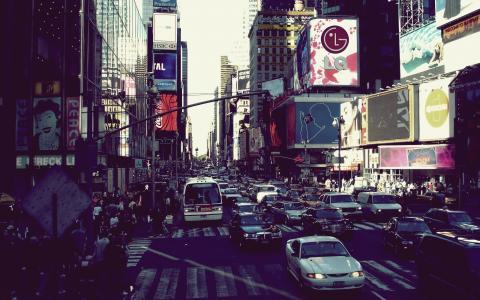 城市,运动,城市,大都市,纽约,生动活泼