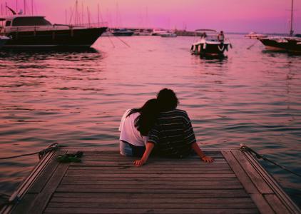 坠入爱河的情侣摄影
