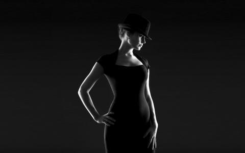 帽子,黑色,女孩