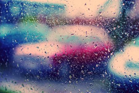雨,壁纸,玻璃,下降,颜色,壁纸,明亮