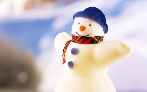 新的一年,雪人