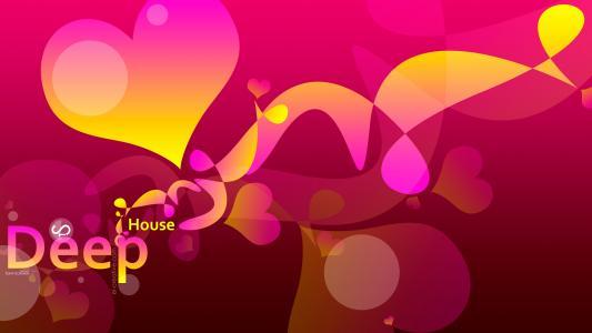 Tony Kokhan音乐,塑料,DJ,粉红色,黄色,心脏,4K,壁纸,单词,单词,el创意,声音,设计,艺术,风格,托尼·柯汗,深的房子,音乐,音乐,方向,图片