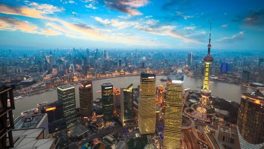 上海,摩天大楼,城市