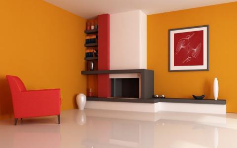 风格,房间,设计,室内,公寓,明亮