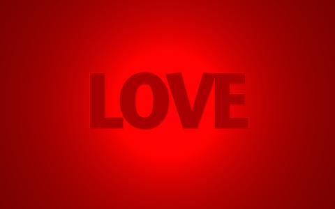题字,爱,红色,爱