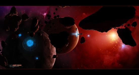 空间,星球,星星,行星,艺术,空间,宇宙飞船