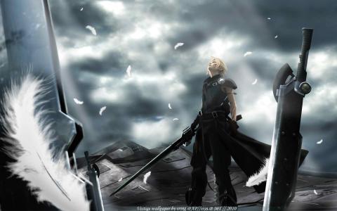 云,来临的孩子,finalka,动漫,最终幻想7,武器
