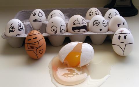 下降,框,恐怖,鸡蛋,情绪