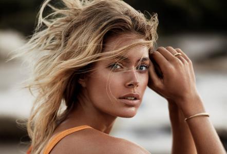 Doutzen Kroes,时装模特,金发,外观,棕褐色,海绵