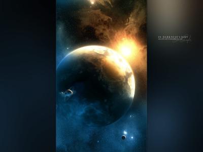 行星,恒星的光芒,卫星