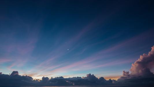 星星,天空,云,天空,明星