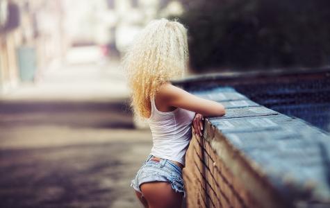 屁股,金发女郎,时尚,女孩,牛仔裤,性感,短裤
