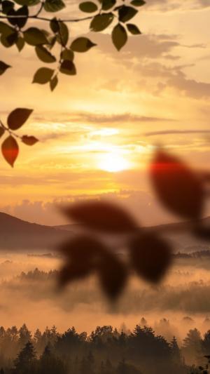 唯美的夕阳美景