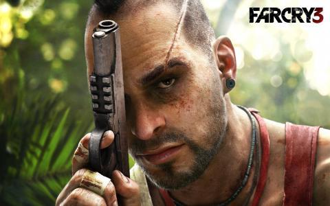 vaas,疤痕,枪,3,vane,黑山,看,游戏