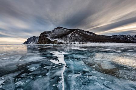 Olkhon,岛,冰,湖,贝加尔,性质