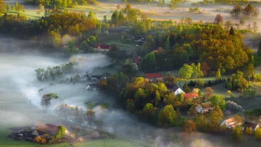 景观,佳能,薄雾,光,春天,Iza,Darek