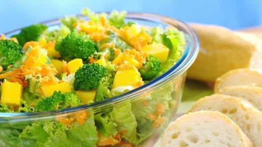 蔬菜,西兰花,食品,健康,,蔬菜,沙拉,面包