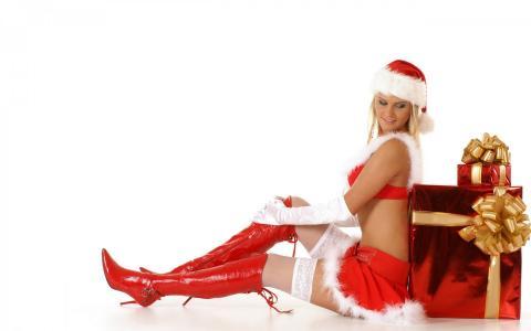 圣诞节,模型,裙子,性感