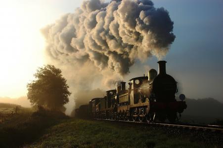 火车,烟,铁路