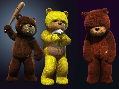 熊,洋甘菊,攻击,生活规律