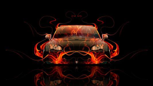 本田,S2000,前,火,摘要,汽车,橙色,火焰,黑色,托尼汽车,日本,汽车,高清壁纸,设计,艺术,风格,Photoshop,托尼Kohan,Photoshop,本田,