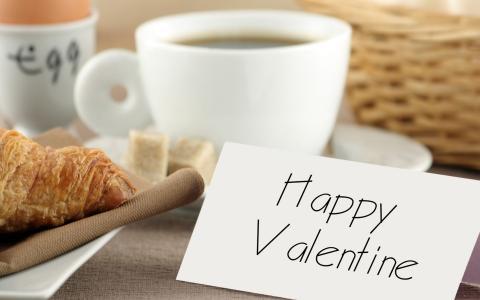 早餐,菜,情人节,假期,一天,情侣