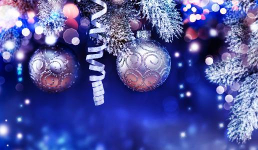 假日,新年,圣诞节,分支机构,云杉,毛皮树,玩具,球,蛇纹石