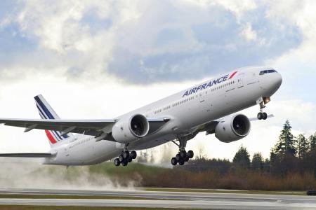 空气,法国,777,波音,飞机,波音,空气,法国