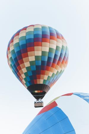 五彩缤纷的热气球