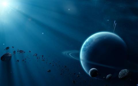 行星与环形流星雨,彗星,卫星,陨石