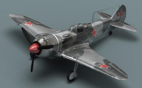 苏联战斗机,拉-7,小副本,模型