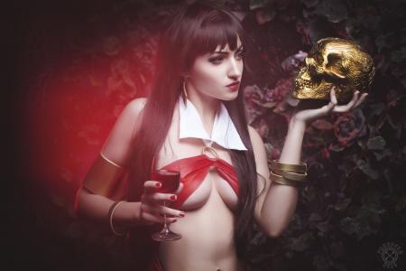 吸血鬼,cosplay,头骨,幻想