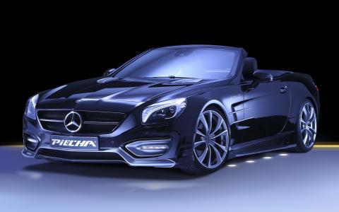 奔驰,奔驰,SL,汽车,超级跑车,调整,车轮