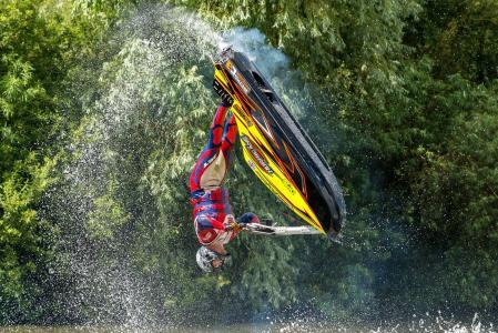 水,喷雾,跳跃,运动