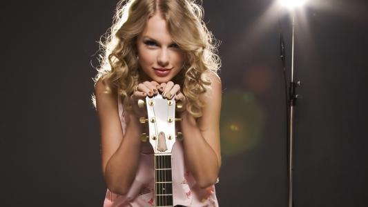 泰勒·斯威夫特,脸,嘴唇,歌手,吉他,头发,弦乐,美女