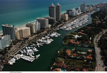 迈阿密,迈阿密,游艇,沙滩,经纪