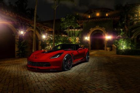 雪佛兰,超级跑车,照片,晚上,跑车,帅气