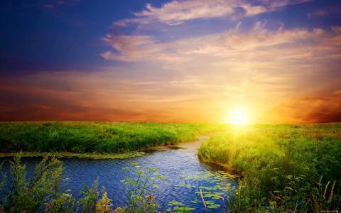 景观,日落