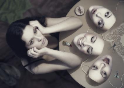 面具,手,脸