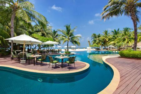 照片,度假村,热带地区,棕榈树,美丽,游泳池